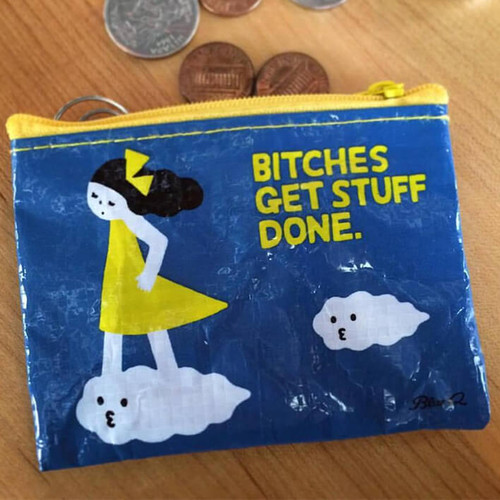 Blue Q Bitches Get Stuff Done Coin Purse