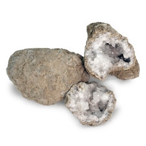 CRACK UP YOUR OWN GEODE AND SEE THE CRYSTALS INSIDE