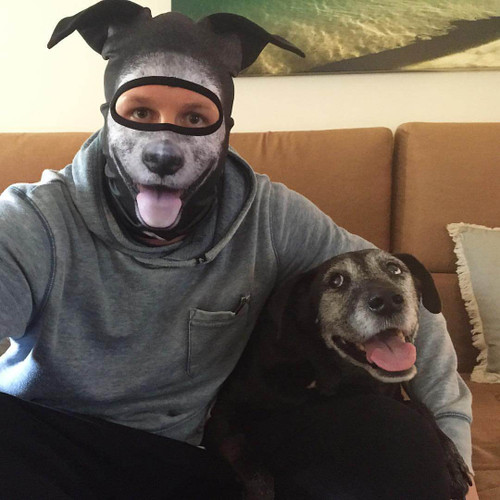TOTALLY FETCHING COLLIE DOG WINTER MASK