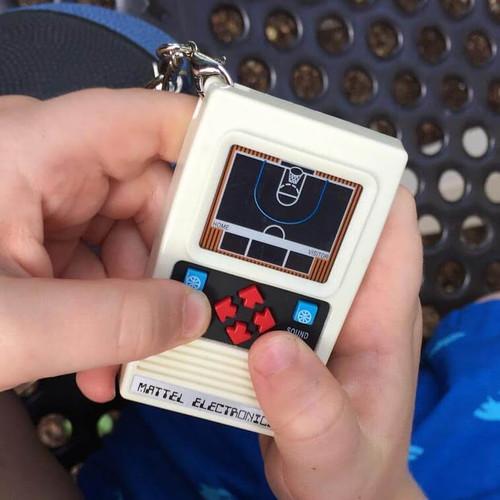 Mattel Electronics Basketball Handheld Game Keychain