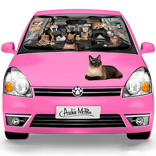 Cats Car Sunshade