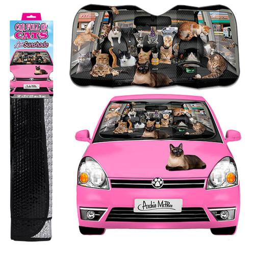 Car Full of Cats Auto Sunshade