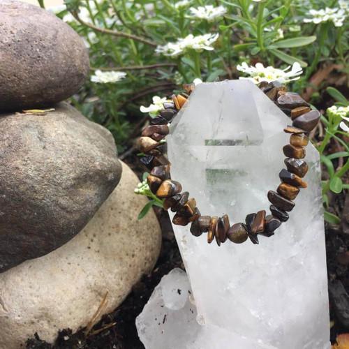 Genuine Tiger's Eye Courage Crystal Bracelet