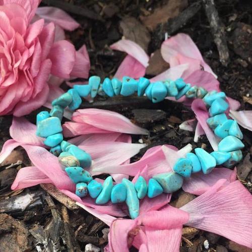 Genuine Turquoise Communication Crystal Bracelet