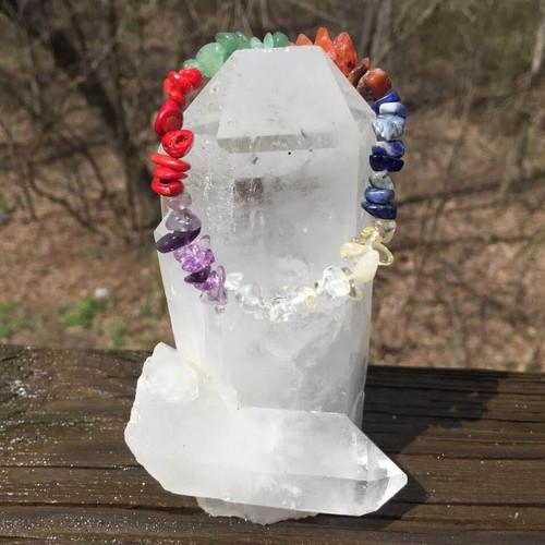 7 Chakra Natural Healing Crystals Bracelet