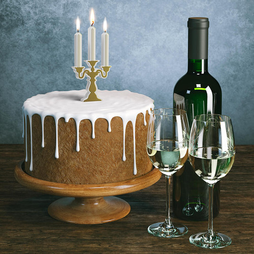 Birthday Candelabra Party Candle