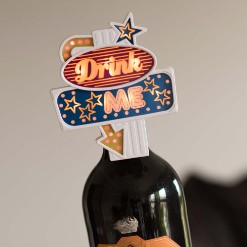 SuckUK Drink Me Flashing Neon LED Sign Bottle Topper