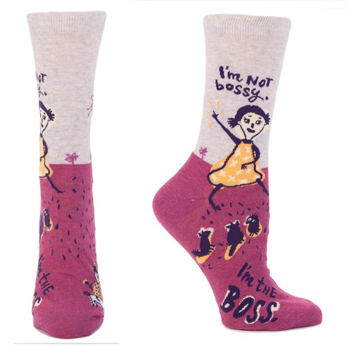 I'm Not Bossy. I'm the Boss. Women's Crew Socks