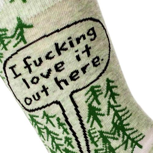 Fucking Love It Out Here Men's Socks