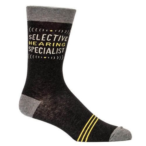 Selective Hearing Specialist  Men's Blue Q Socks