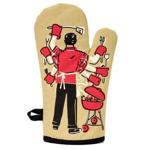 Feed You Fuckers Blue Q Oven Mitt