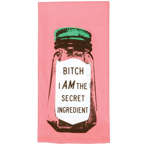 B*tch I Am The Secret Ingredient BlueQ Dish Towel