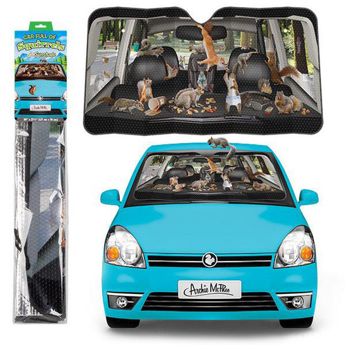 Car Full Of Squirrels Auto Sunshade