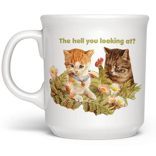The Hell You Looking At Cat Mug