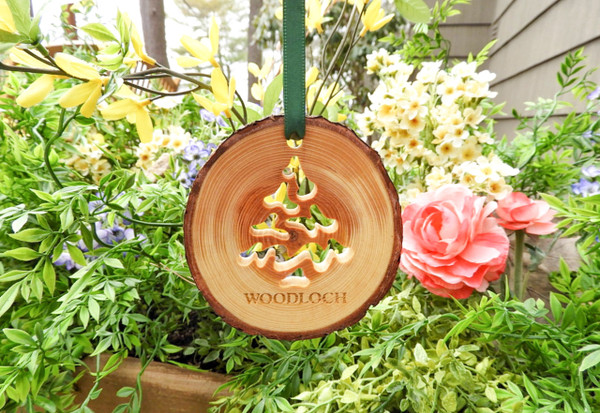 Pine Tree Cut Out Wood Ornament