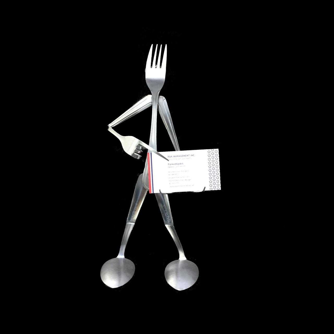 Business Card Holder - Fork © - Forked Up Art
