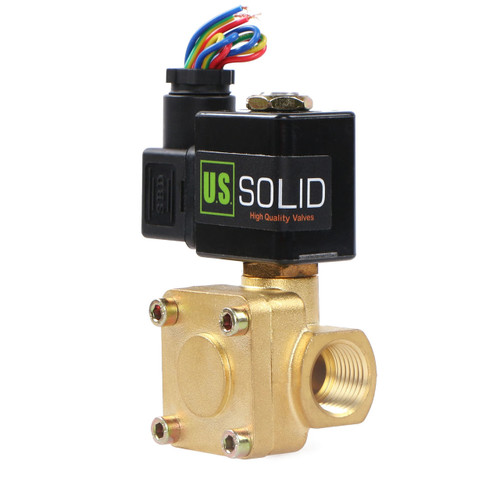"1/2"" 230 PSI Brass Electric Solenoid Valve 12V DC VITON Normally closed"