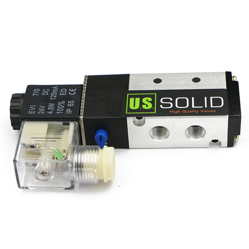 "1/8"" 5 Way 2 Position Pneumatic Electric Solenoid Valve DC 24 V"