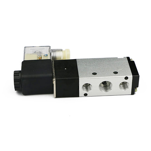 "1/4"" 5 way 2 Position Pneumatic Electric Solenoid Valve DC 12 V"