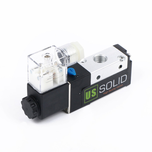 "1/4"" 3 Way 2 Position Pneumatic Electric Solenoid Valve DC 12 V"