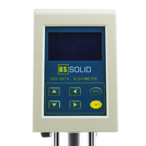 Rotary Viscometer Viscosity Meter w/ LCD Temperature Display USS-DVT6 1-1×100000 mPa·s