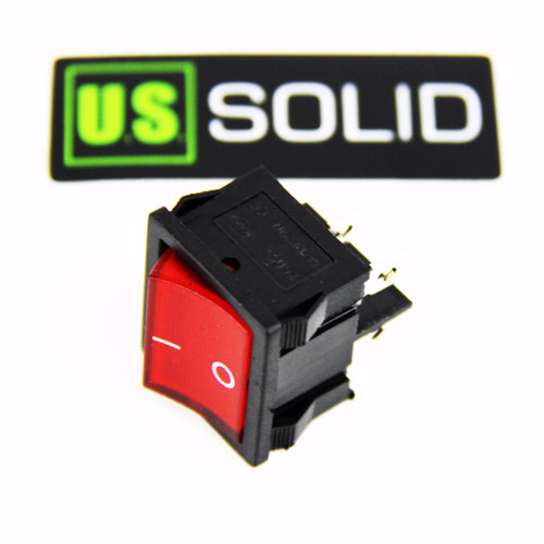 Rectangle Rocker Latching ON/OFF Car/Boat Switch w/ Red Light Head