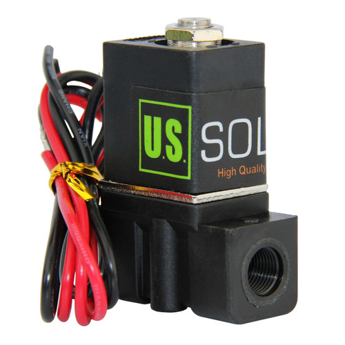 """1/8"""" Nylon Electric Solenoid Valve 12V DC Normally Closed NBR"""