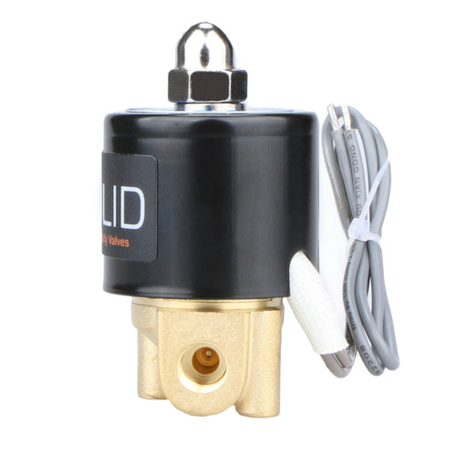 "1/8"" Brass Electric Solenoid Valve 24V DC Normally Closed VITON"