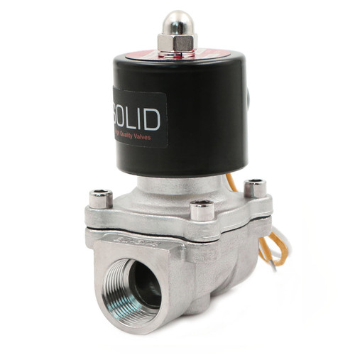 """3/4"""" Stainless Steel Electric Solenoid Valve 110VAC Normally Closed Air Water"""