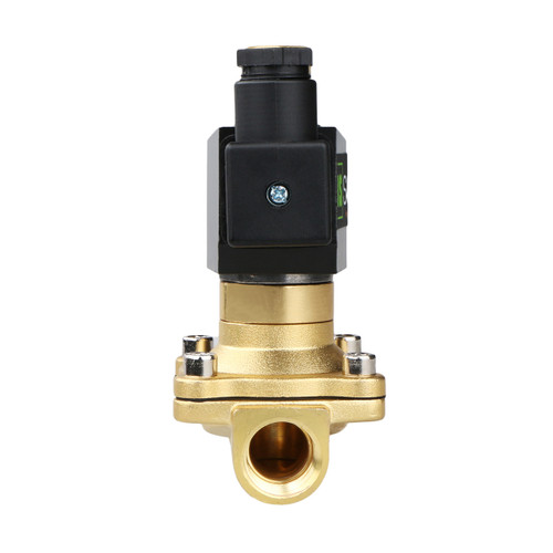 "1/2"" Brass Electric Solenoid Valve 24V AC Normally Open Air Water NBR"