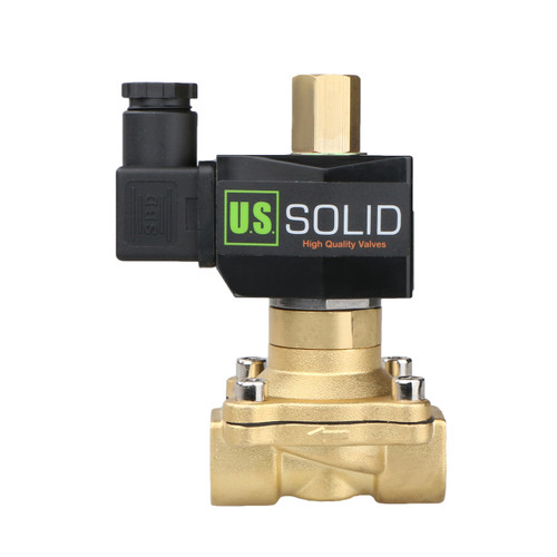 "1/2"" Brass Electric Solenoid Valve 110V AC NBR SEAL Normally Open (Air, Water, no Fuel...)"