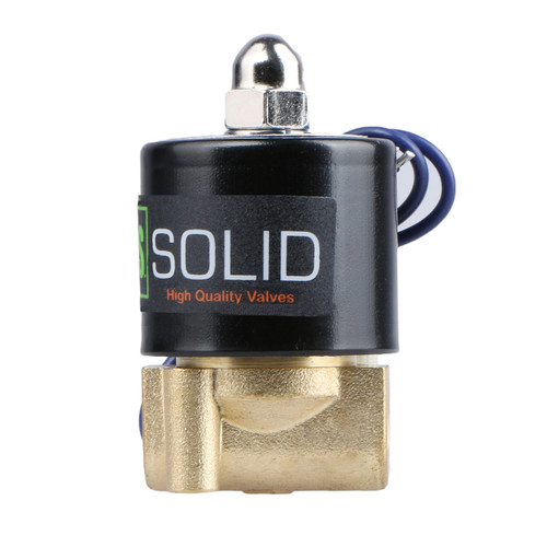 """1/8"""" Brass Electric Solenoid Valve 12 V DC Normally Closed , Air Gas Water NBR"""