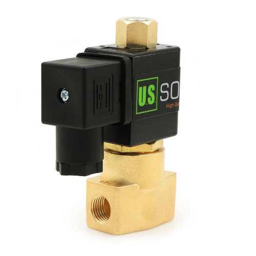 """1/4"""" Brass Electric Solenoid Valve 110V AC N.O. Air Gas Water NBR"""