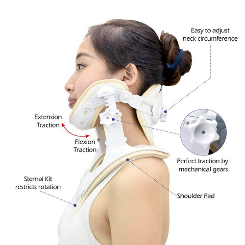 Cervical Neck Traction Device- Cervical Traction Unit for Home Use and Decompression