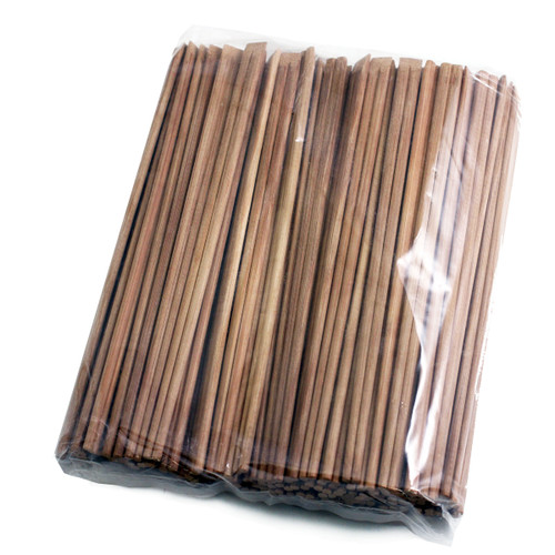 "9.5"" Disposable Carbonized Slanted Tip Bamboo Chopsticks (100 pairs/pack)"