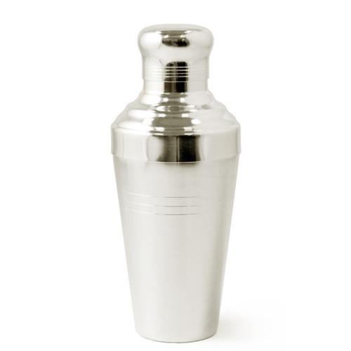 Yukiwa Matte Silver-Plated Baron 3-Piece Cocktail Shaker with Round Cap 510ml (17.2 oz)
