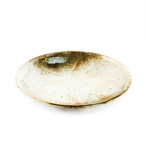 "Yukishino Moss White Salad Plate 7.68"" dia"