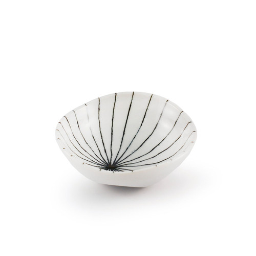 "[NEW] Tokusa Blue Brush Stroke Condiment Dish 3.7"" dia"