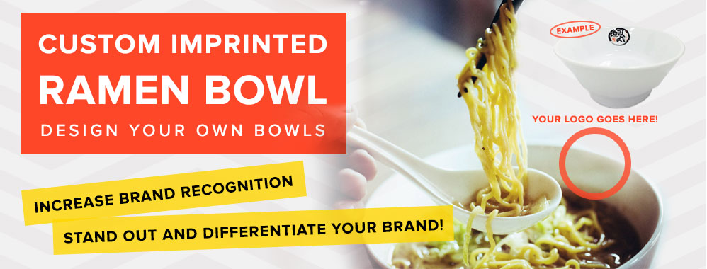 Custome Imprinted Ramen Bowl