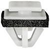 Front Hood Moulding Clip With Sealer White Nylon Top Head Size: 10mm x 12mm Bottom Head Size: 13mm x 15mm Stem Length: 11mm Hyundai Azera, Equus & Sonata 2006 - On OEM# 86360-3L000 25 Per Box