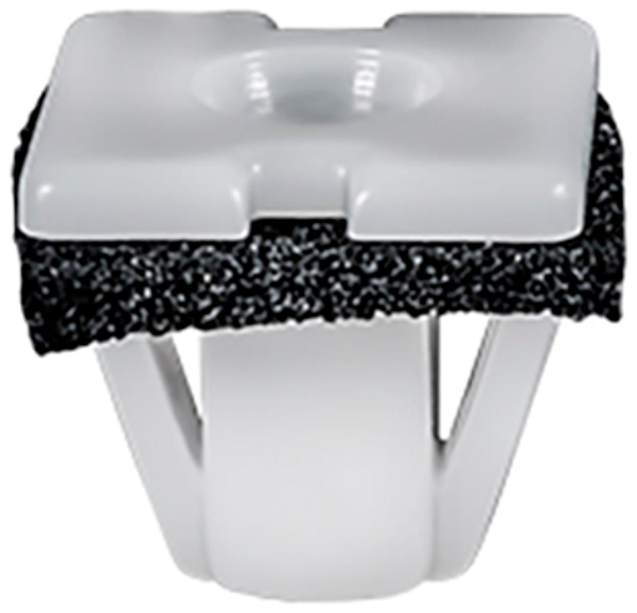 Emblem & Rocker Moulding Nylon Nut With Sealer White Nylon Screw Size: M3.5 (#6) Head Size: 13mm x 13mm Stem Diameter: 12mm Stem Length: 10mm Hyundai Genesis & Santa Fe 2007 - On OEM# 87756-26900 50 Per Box