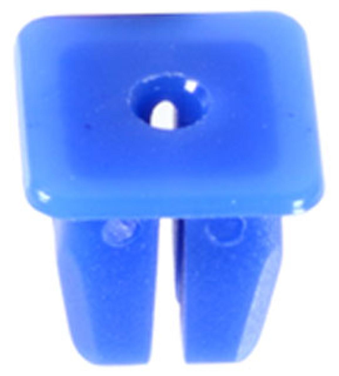 Nylon Nut Screw Size: M3.5 (#6) Head Size: 11mm x 11mm Stem Length: 10mm Fits Into 8mm x 8mm Square Hole Subaru 1993-On OEM# 62731-FA010 Blue Nylon 25 Per Box Click Next Image For Clip Detail
