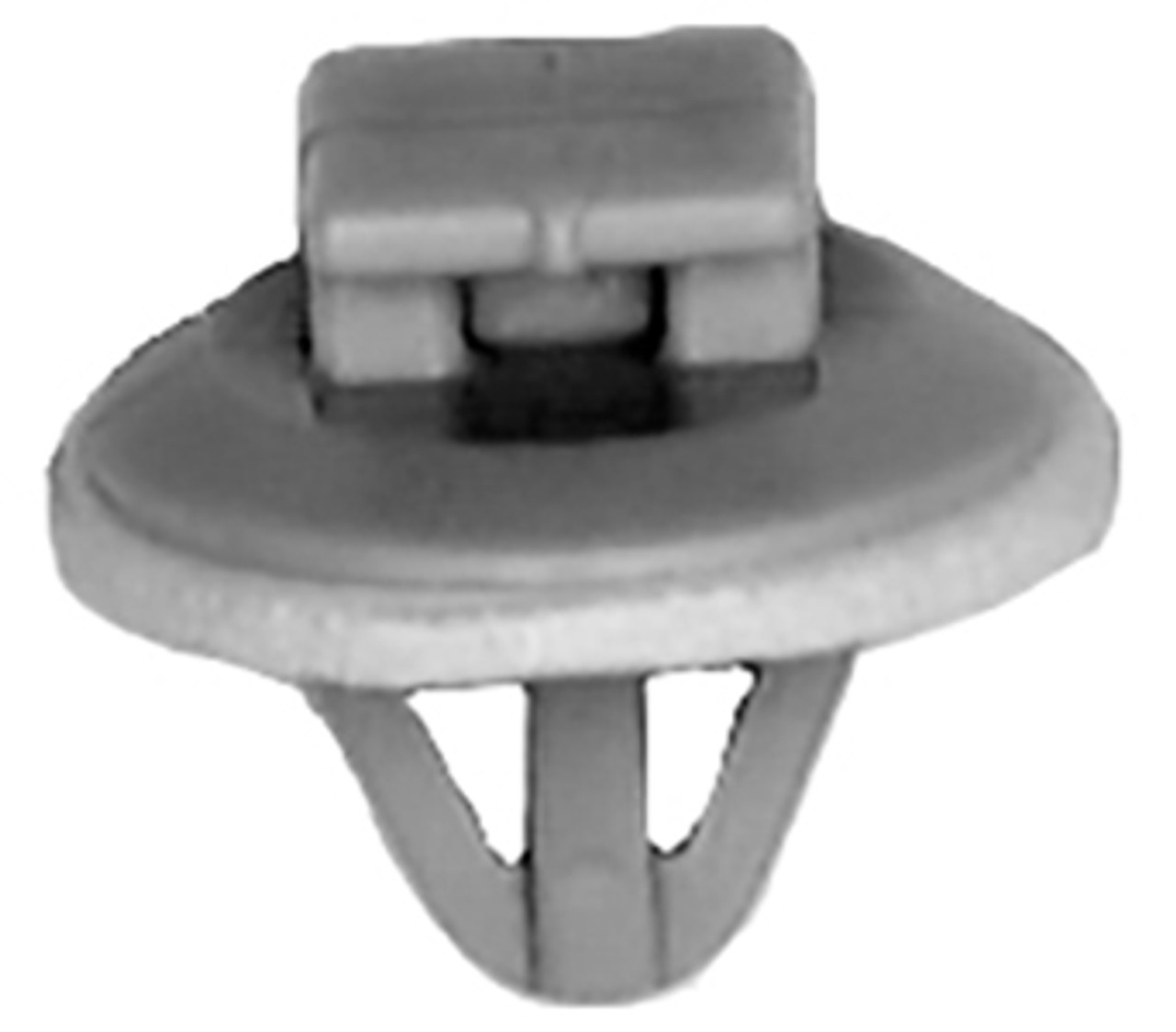 Door Mopulding Clip With Sealer Head Diameter: 15mm Stem Length: 9mm Fits Into 8mm Hole Toyota Avalon & Corolla 1998-On OEM# 90467-10077 Butterscotch Nylon 15 Per Box Click Next Image For Clip Detail