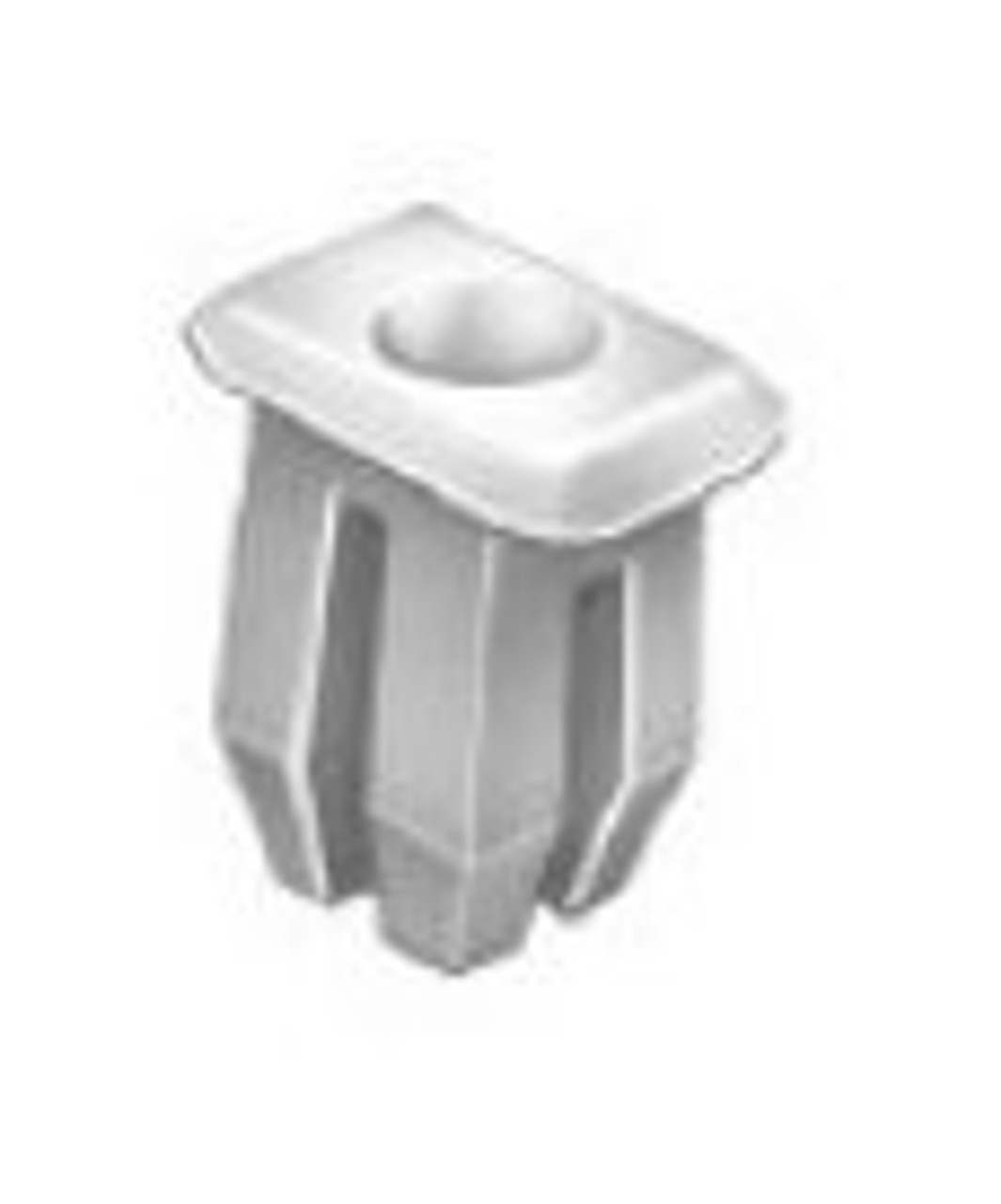 "Nylon Nut Screw Size: #6 Panel Range: .060"" - .150"" GM 1977-On OEM# 1254815 Natural Nylon 50 Per Box Click Next Image For Clip Detail"