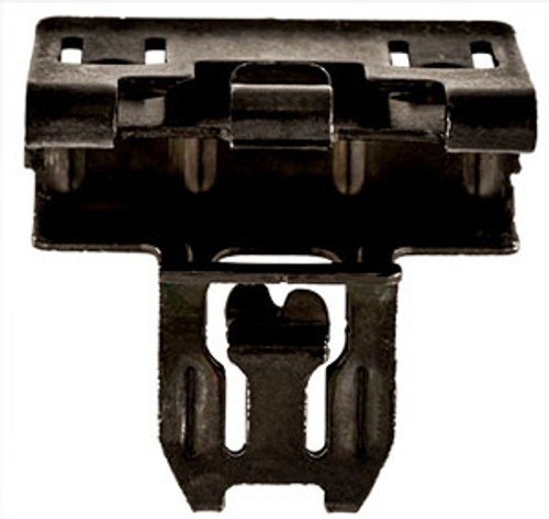 Gm Door Panel Clip Head Size: 16.5mm x 25mm Stem Length: 13mm Black Finish Chevrolet Colorado, Silverado, Suburban & Tahoe and GMC Canyon, Sierra & Yukon 2015 - On GM OEM# 11547446 10 Per Box