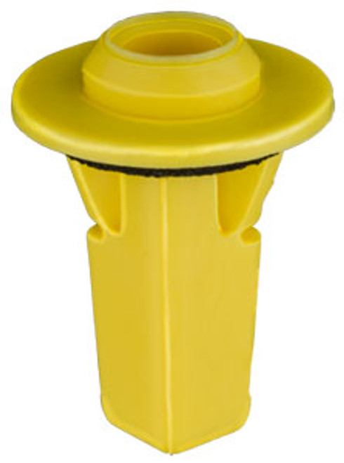 Rear Bumper Screw Grommet Screw Size: M6 (#14) Head Diameter: 20mm Yellow Nylon Stem Length: 22mm Fits Into 9mm x 9mm Square Hole Toyota Camry 2011 - 07 Toyota OEM# 52188-06030 15 Per Box