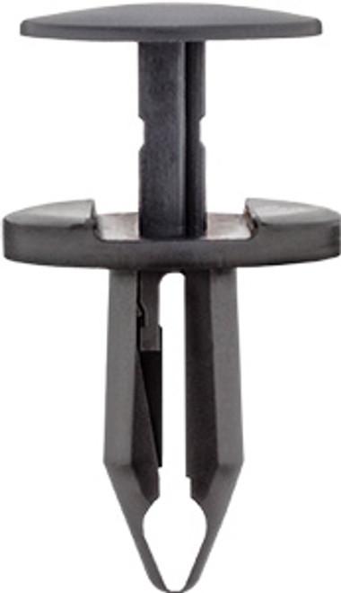 Exterior Trim, Floor, Pillar & Quarter Panel Push-Type Retainer Head Diameter: 18mm Stem Length: 18mm Black Nylon Fits Into 7mm Hole Dodge Challenger & Charger 2011 - On Chrysler OEM# 6510139-AA 25 Per Box
