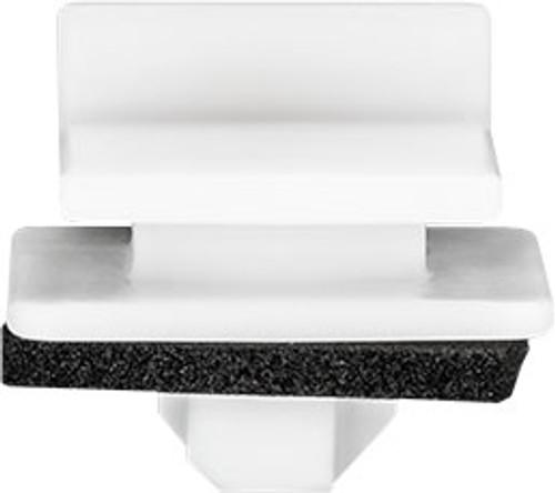 Top Head Size: 18mm x 16mm Bottom Head Size: 22mm x 20mm White Nylon Stem Length: 7mm Honda Fit & Fit EV 2014 - 2009 Honda OEM# 91514-SYP-003 25 Per Box