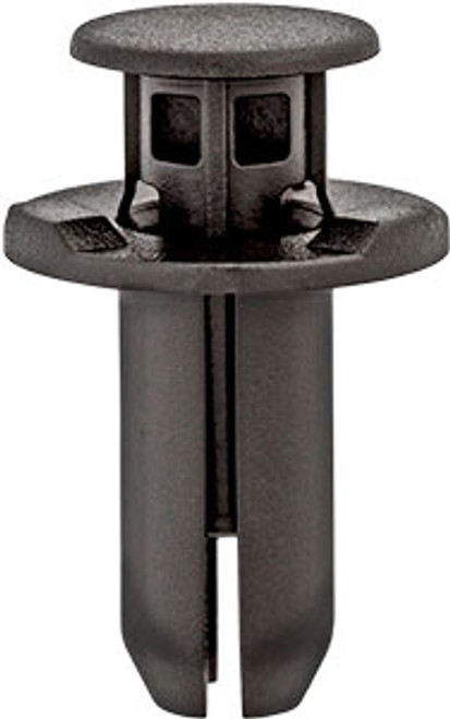 Rocker Molding & Mud Guard  Head Diameter: 20mm Stem Length: 21mm Black Nylon Fits Into 10mm Hole Acura RDX, RL & RLX and Honda CR-V & Accord 2009 - On Honda OEM# 90501-SDR-003 25 Per Box