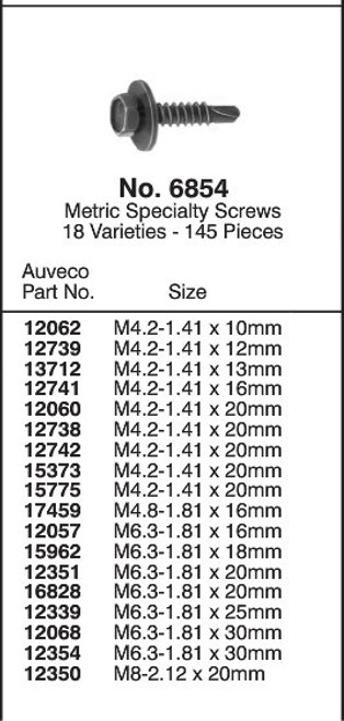 Metric Specialty Screws Quick-Select Assortment Kit